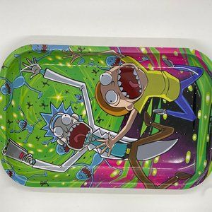 Rick and Morty Rolling Trays 7 X 11""